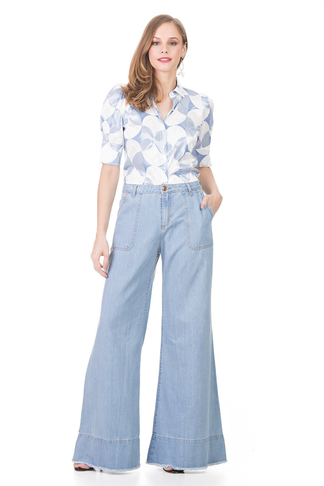 Calca Jeans Kollok Wide Pants